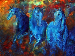 Incandescent Blue Equine SOLD